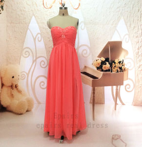 Epairs Real Sexy Croal A-Line/Princess Chiffon Sleeveless Side Slit Evening Prom Dresses