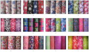 600d Printed Flower Bag Fabric
