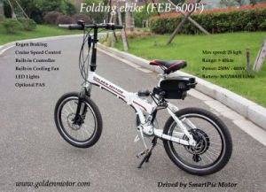 20′′ 36V 500W Folding Electric Bike 35km/H with 36V 12ah Lithium Battery pictures & photos