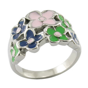 Fashion Enamel Ring Flower Girl Ring Steel Jewelry pictures & photos