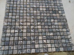 Dark Brown Marble Mosaic Tile (25*25mm) pictures & photos