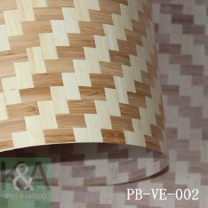 Solid Bamboo Veneer / Bamboo Wall Paper/Bamboo Plywood (PB-VE-001)