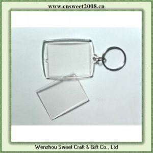 Clear Plastic Photo Keychain Insert Pictures Key Chain pictures & photos
