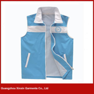 Custom Design Blue Printing Advertising Vest for Wholesale Factory (V25) pictures & photos
