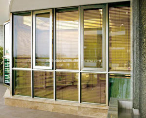 Customized Aluminum Double Glazing Windows, Casement Window with Flyscreen pictures & photos