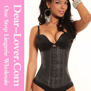 Steel Boned Body Shaper Latex Waist Training Corset pictures & photos