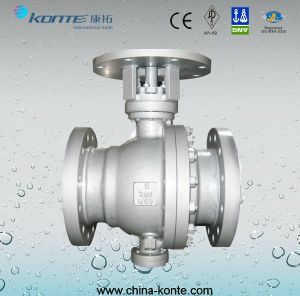 Cast Steel 2PC Trunnion Double Block & Bleed Ball Valve pictures & photos