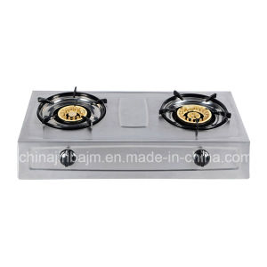2 Burner High Type Stainless Steel Gas Cooker pictures & photos