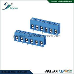 PCB Screw Terminal Blocks Pitch 7.50mm 6p DIP Type with Blue Housing pictures & photos
