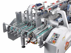 Xcs-800PC Lock Bottom Prefolding Gluing Machine pictures & photos