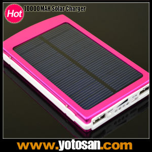 10000mAh 2 USB Solar Battery Panel Mobile Phone Power Bank Emergency External Battery Charger