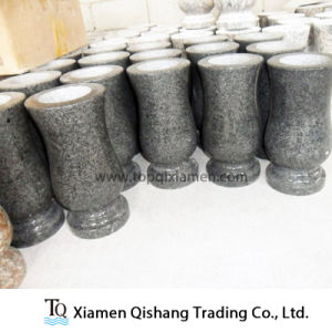 G654 China Impala Black Granite Vase for Headstone Accessories