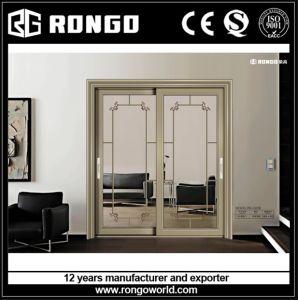 Tempered Glazing Aluminum Sliding Door pictures & photos