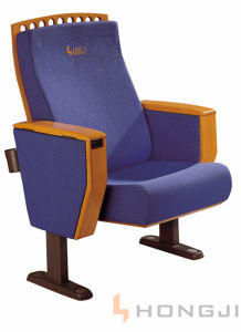 Molded Foam Stuffed Blue Fabric Classic Auditorium Chair (HJ55A) pictures & photos