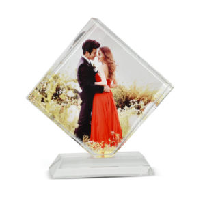 Factory Directly White Wholesale 3D Photo Sublimation Crystal Trophy pictures & photos