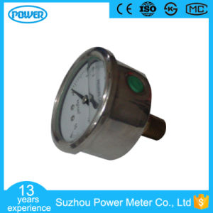 40mm Stainless Steel Case Back Connection Pressure Gauge pictures & photos