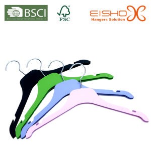 Rubber Coated Plastic Hanger for Shirt pictures & photos
