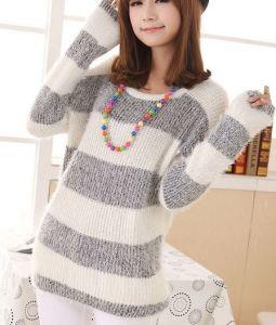 Color Stripe Neck Pullover (BTQ055) pictures & photos