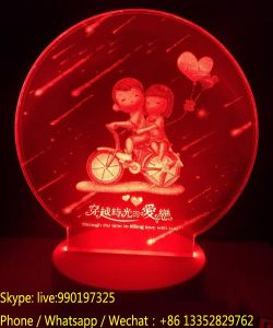 LED Acrylic Creative Night Light for Valentine′s Day Gift pictures & photos