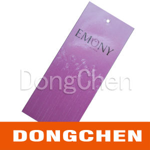 Elegant Purple Color Custom Printing Paper Hang Tags pictures & photos