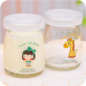 High Quality Glass Pudding Bottle/Glass Jar for Pudding/Mlik pictures & photos