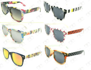 New Colorful Pattern Hot Selling UV400 Wayfarar Sunglasses (20131) pictures & photos