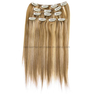 Clip in Human Hair Extensions Brazilian Straight Human Hair pictures & photos