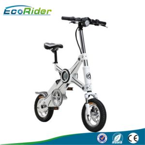 Detachable Battery 36V Folding E-Bicycle Brushless 350W Electric Pocket Bike with LED pictures & photos