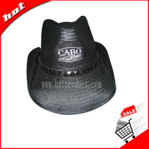 Cowboy Hat Chinese 8bu Hat Promotion Straw Hat Paper Hat Black Hat pictures & photos