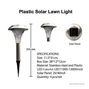 Solar Stainless Steel Color Changing Garden Stake Light (RS032) pictures & photos