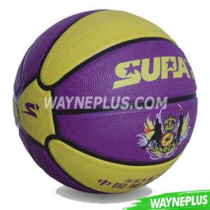 Custom Logo Orange Rubber Basketball pictures & photos
