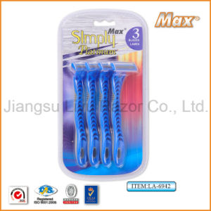 Popular in Uzbekistan Good Quality Compete with New Design Sharp Stainless Steel Disposable Razor (LA-6942) pictures & photos