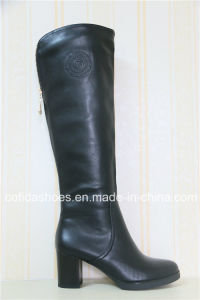 Winter Comfort Low Heel Women Leather Boots pictures & photos