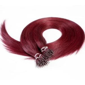 Double Drawn Indian Remy Nano Ring Human Hair Extension pictures & photos