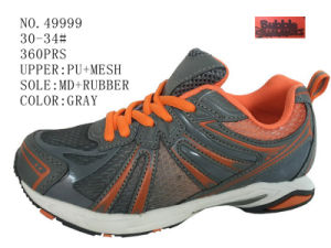 Gray Color Children Running Shoes pictures & photos