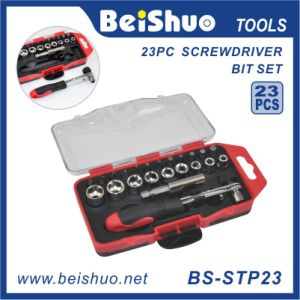 23-PCS Drive Socket & Screwdriver Bit Set with Ratchet pictures & photos