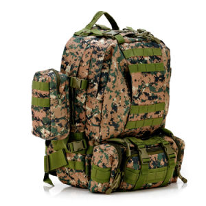 Solid Nylon Wearproof Outdoor Sport Climbing Camping Hiking Combined Trekking Molle Travel Bags Military Tactical Backpack pictures & photos