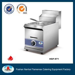 Stainless Steel 1-Tank 1-Basket Gas Fryer (HGF-971) pictures & photos