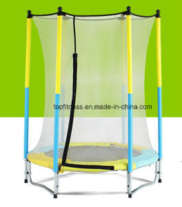 Powder Coating Mini Trampoline with Safety Nets for Kids pictures & photos