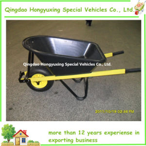 Heavy Duty Wheelbarrow with Extra Edge Poly Tray