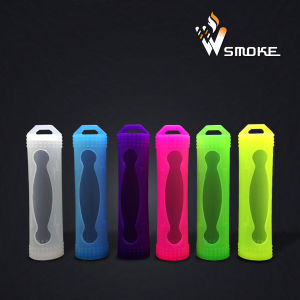 Silicone Rubber Protective Case/Skin/Sleeve/Cover for E Cig 18650 Battery Wholesale