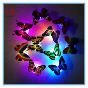 Promotional Gift Luminous Portable Butterfly Lamp Home Decoration Small Night LED Night Wall Light pictures & photos