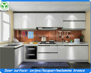 Modern Kitchen Cabinets with Gloss Acrylic MDF Door pictures & photos