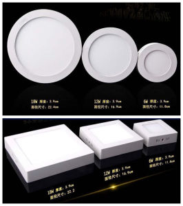 Surface Mounted LED Panel Light, 6W 12W 18W pictures & photos