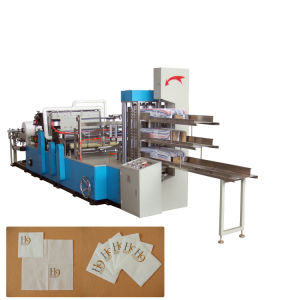 High Speed Automatic Folding 3 Decks Napkin Paper Machine pictures & photos