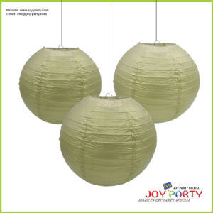 Gold and Silver Hanging Paper Lanterns Themed Party Decoration pictures & photos