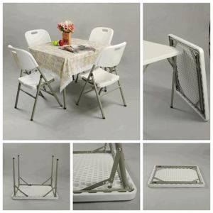 Square Cheap Plastic Tables and Chairs pictures & photos