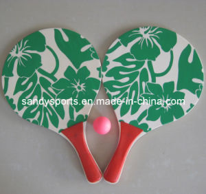 Best Sell High Quality Silk Screen Printing Wood Beach Racket pictures & photos