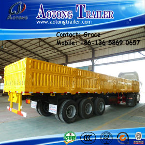 Tri-Axle 60tons Side Board Semitrailer, Side Boards Flatbed Semi Trailer, Flatbed with Side Wall, Open Side Board Cargo Semi Trailer, Sidewall Semi Trailer pictures & photos