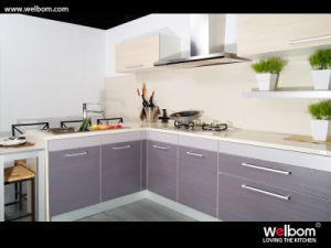 2015 [ Welbom ] Cheapest Modern Design Laminated Kitchen Furniture pictures & photos